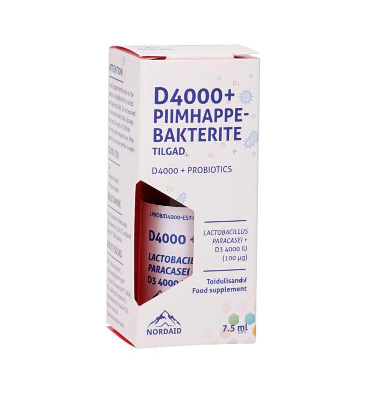 D400+Piimhappebakterite tilgad, 7,5ml