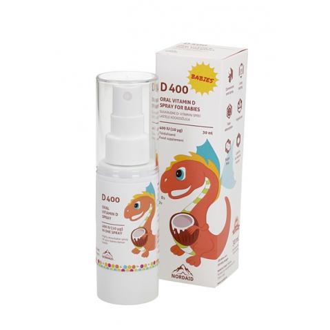 D-vitamiini sprei kookosõliga 400 IU (10 mcg), 30 ml