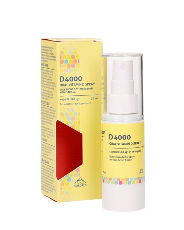 D-vitamiini sprei 4000 IU (100 mcg), 30 ml