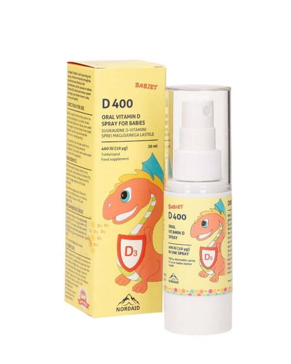 Nordaid D-vitamiini sprei lastele 400 IU (10 mcg), 30 ml